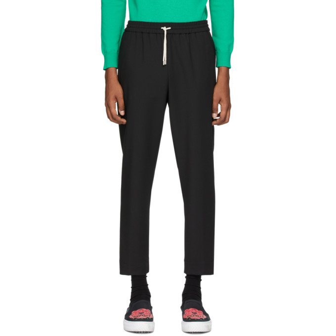 Photo: Kenzo Black Tapered Cropped Trousers