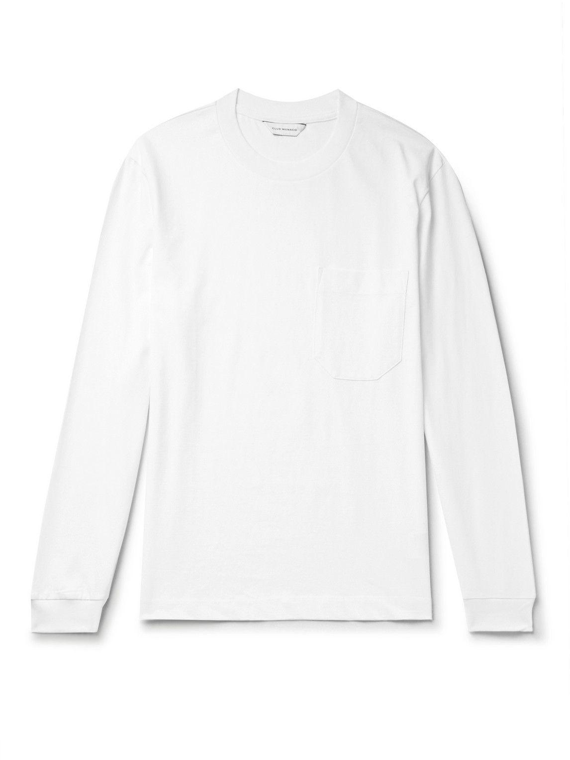 Photo: Club Monaco - Cotton-Jersey T-Shirt - White