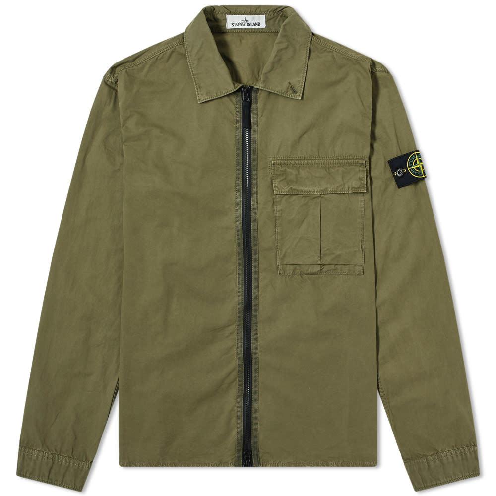 Photo: Stone Island Garment Dyed Zip Overshirt