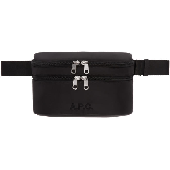 Photo: A.P.C. Black Nylon Zip Pouch