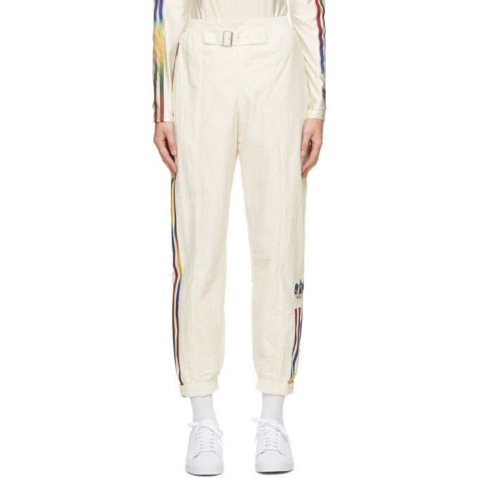 Photo: adidas Originals Off-White Paolina Russo Edition Striped Track Pants