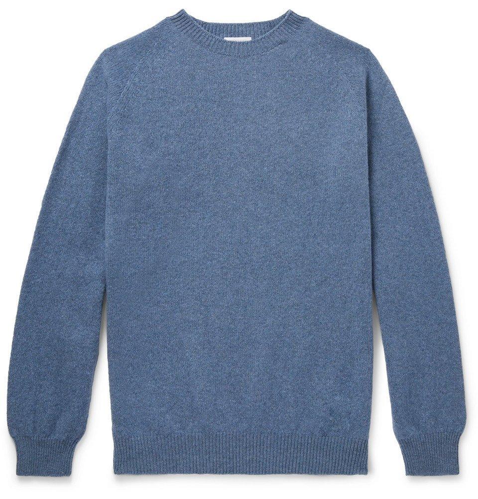 Sunspel - Wool Sweater - Men - Blue
