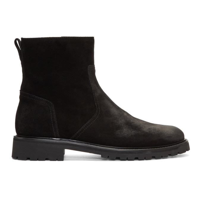 Photo: Belstaff Black Suede Atwell Boots