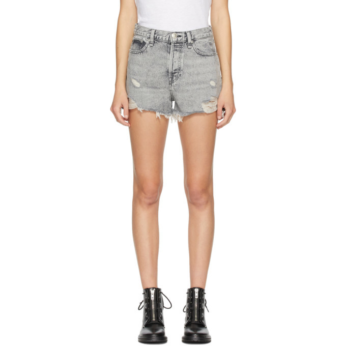 Photo: rag and bone Grey Denim Maya High-Rise Shorts