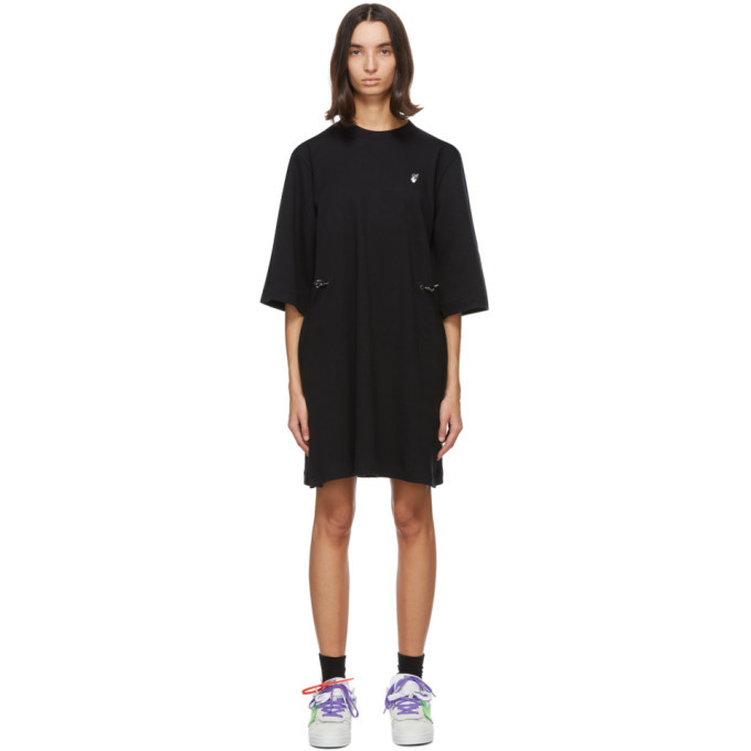 Photo: Off-White Black Flock Arrows Coulisse Dress