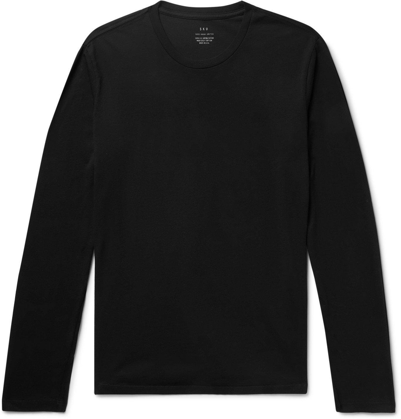 Photo: Save Khaki United - Supima Cotton-Jersey T-Shirt - Black