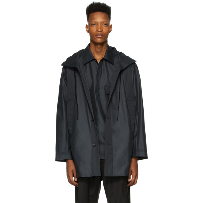 Photo: 3.1 Phillip Lim Black Chintz Poplin Lightweight Parka