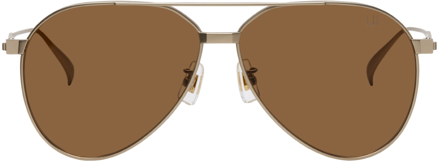 Photo: Dunhill Gold Oval Aviator Sunglasses