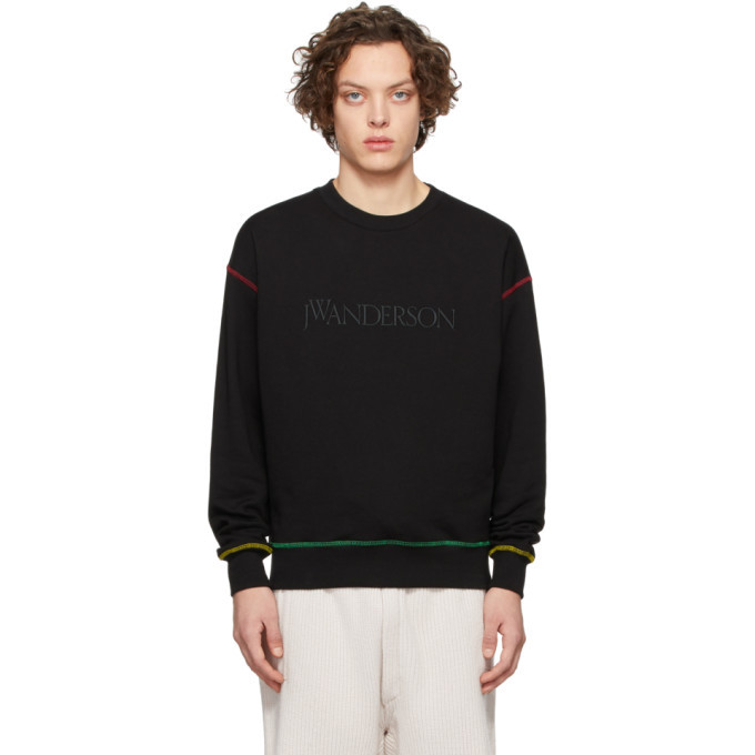 Photo: JW Anderson Black Embroidered Logo Sweatshirt
