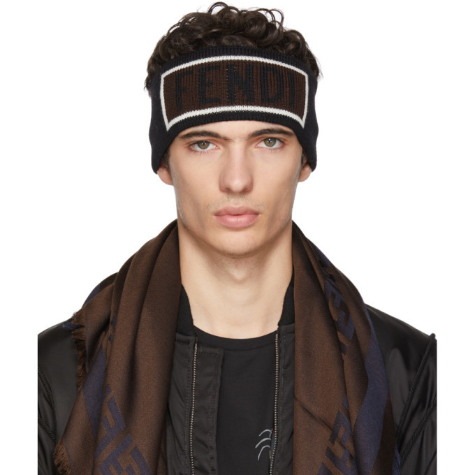 Photo: Fendi Black Logo Headband