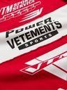 Vetements - Logo-Print Panelled Cotton-Jersey T-Shirt - Red