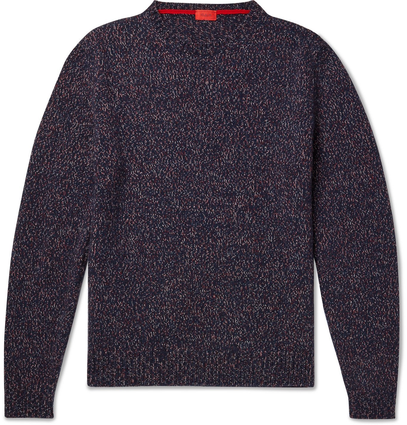 Photo: Isaia - Donegal Cashmere Sweater - Burgundy