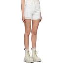 Ksubi White Racer Trashed Shorts