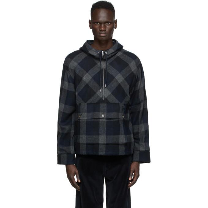 Photo: Kenzo Navy Wool Zip-Up Anorak Jacket