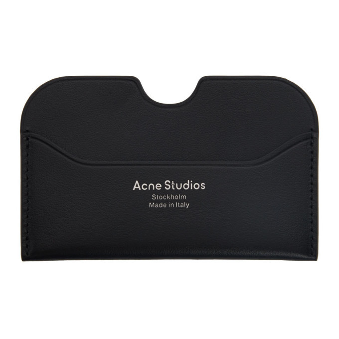 Photo: Acne Studios Black Logo Card Holder