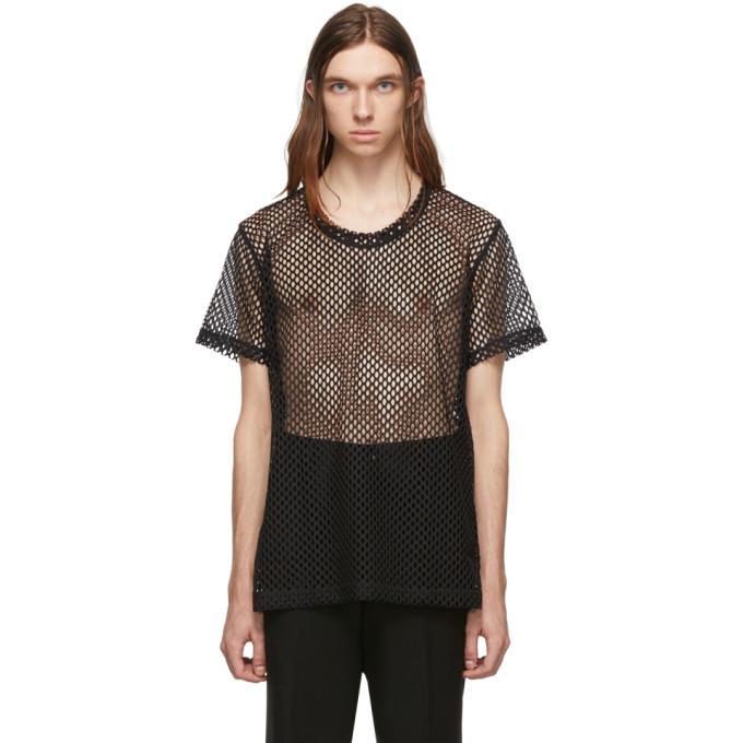 Comme des Garcons Homme Plus Black Mesh Raschel T-Shirt