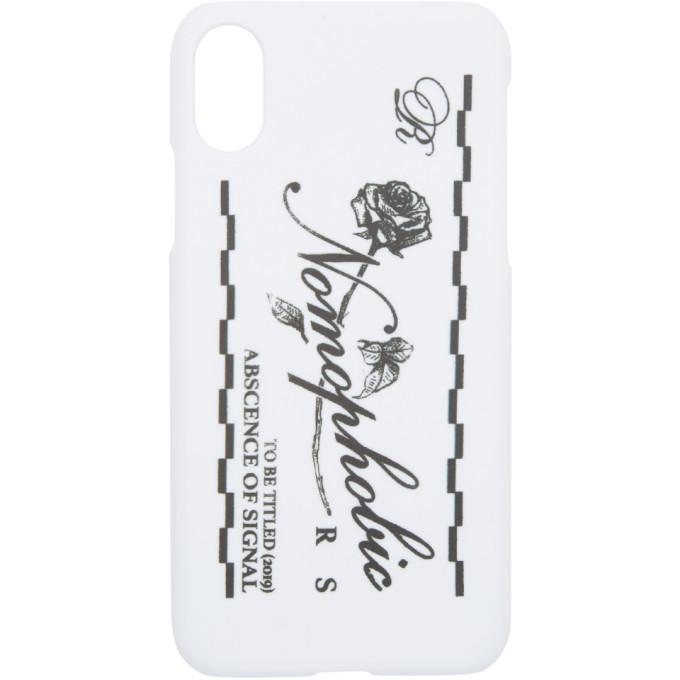 Photo: Raf Simons White Logo iPhone X Case