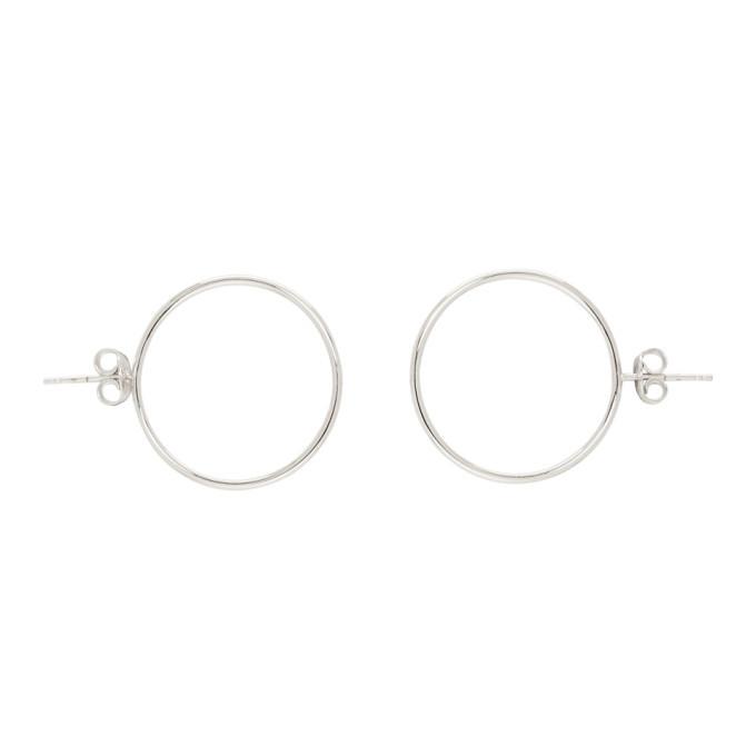 Photo: Dheygere Silver Hoop Stud Earrings
