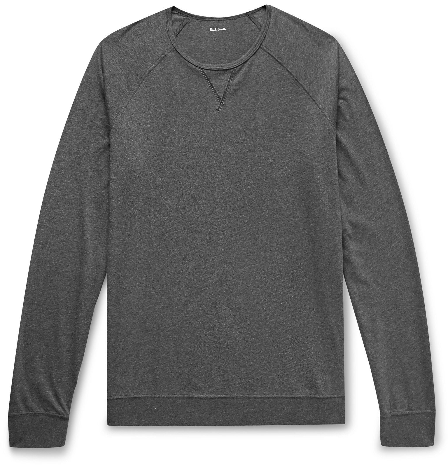 Photo: Paul Smith - Mélange Cotton-Jersey T-Shirt - Gray
