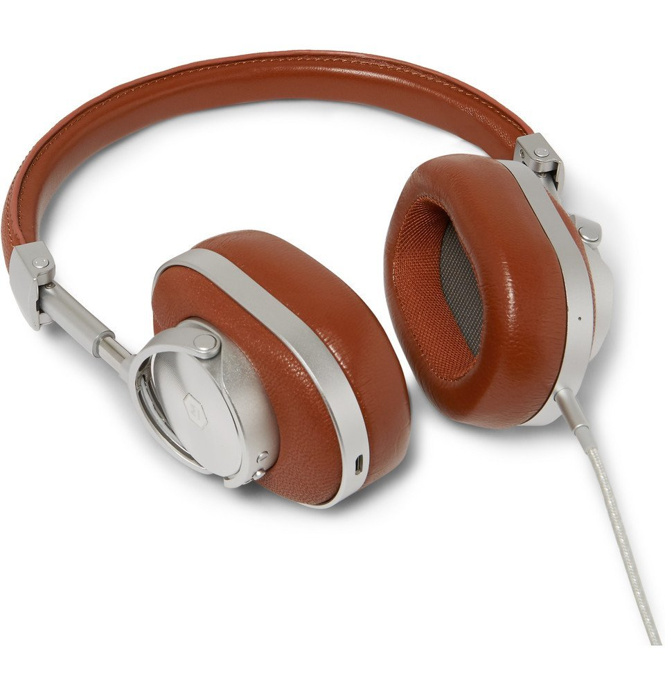 Photo: Master & Dynamic - MW60 Leather Wireless Over-Ear Headphones - Brown