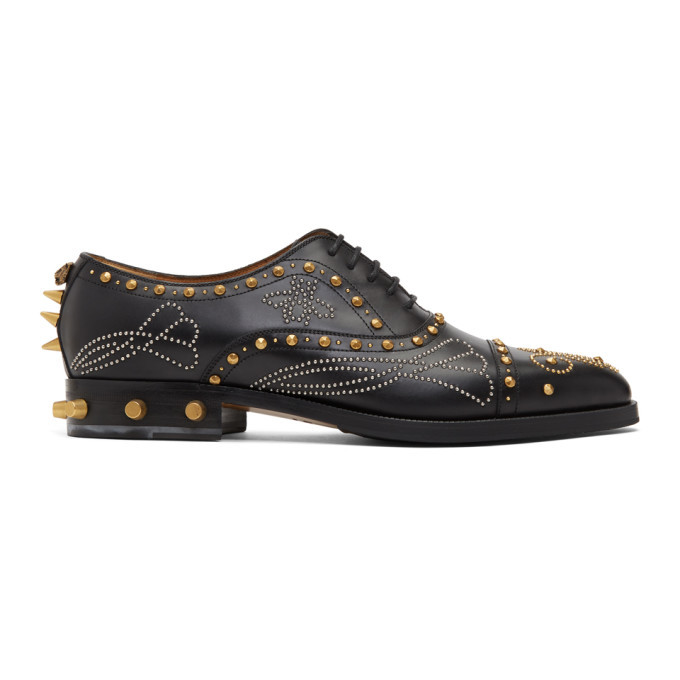 Photo: Gucci Black Studded Brogues