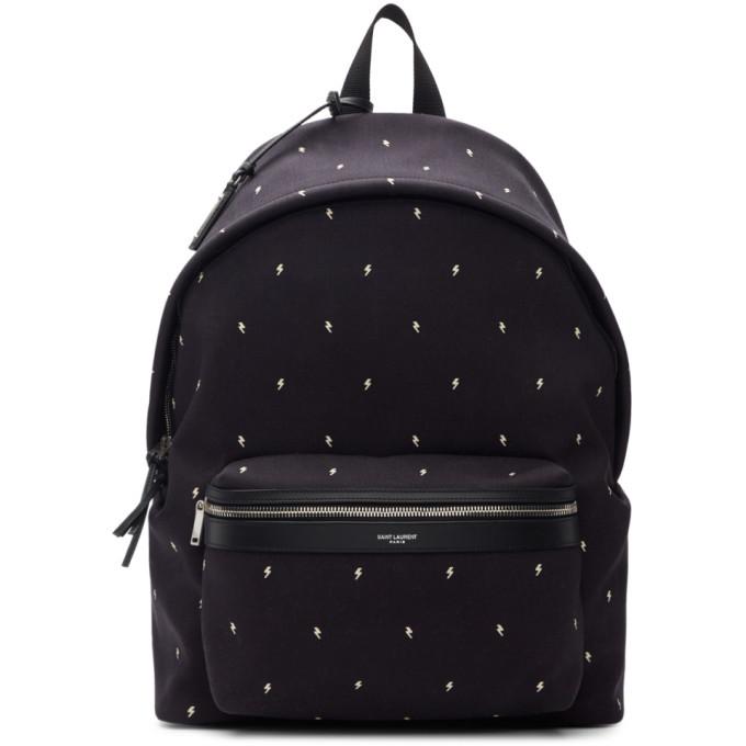 Photo: Saint Laurent Black Canvas City Backpack