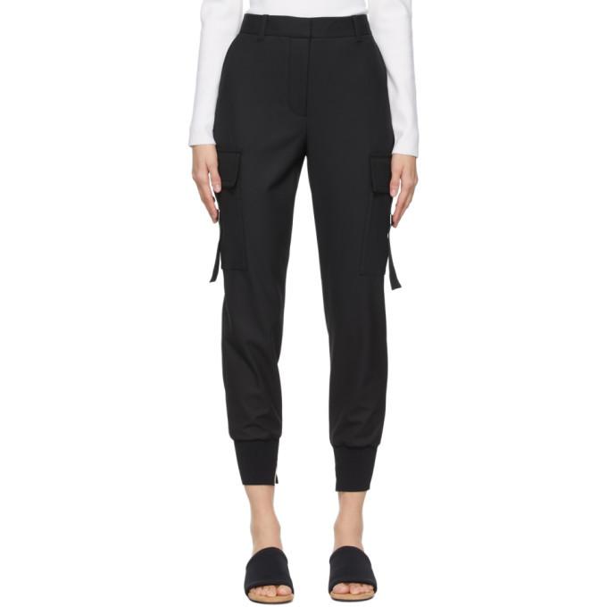 3.1 Phillip Lim Black Cargo Jogger Trousers