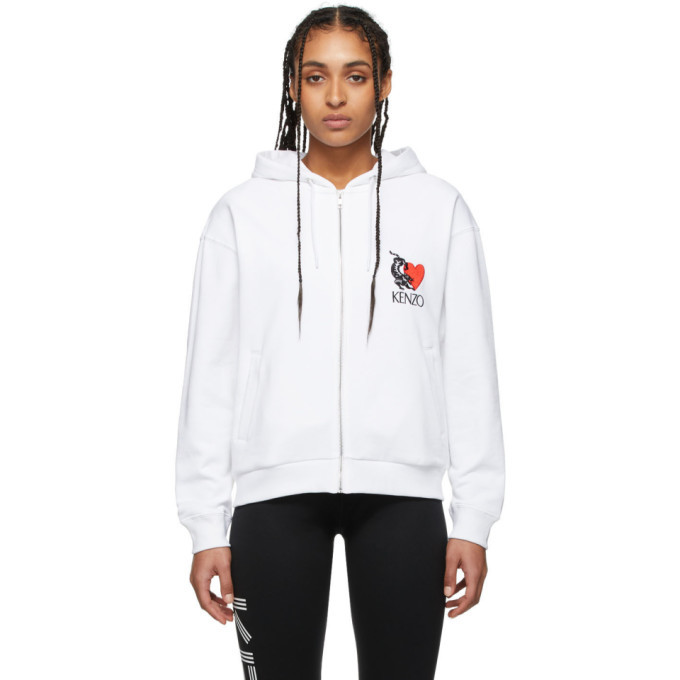 Photo: Kenzo White Limited Edition Valentines Day Lucky Tiger Hoodie
