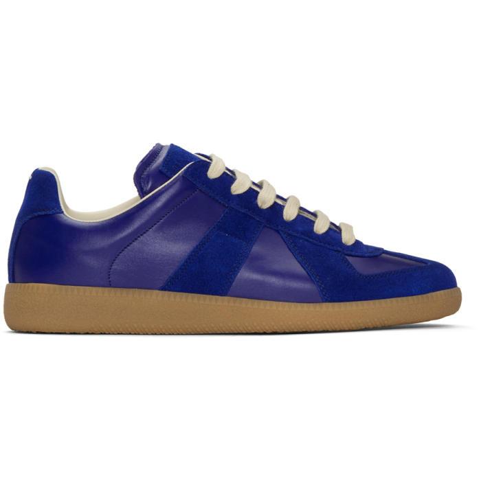 Photo: Maison Margiela Blue Replica Sneakers