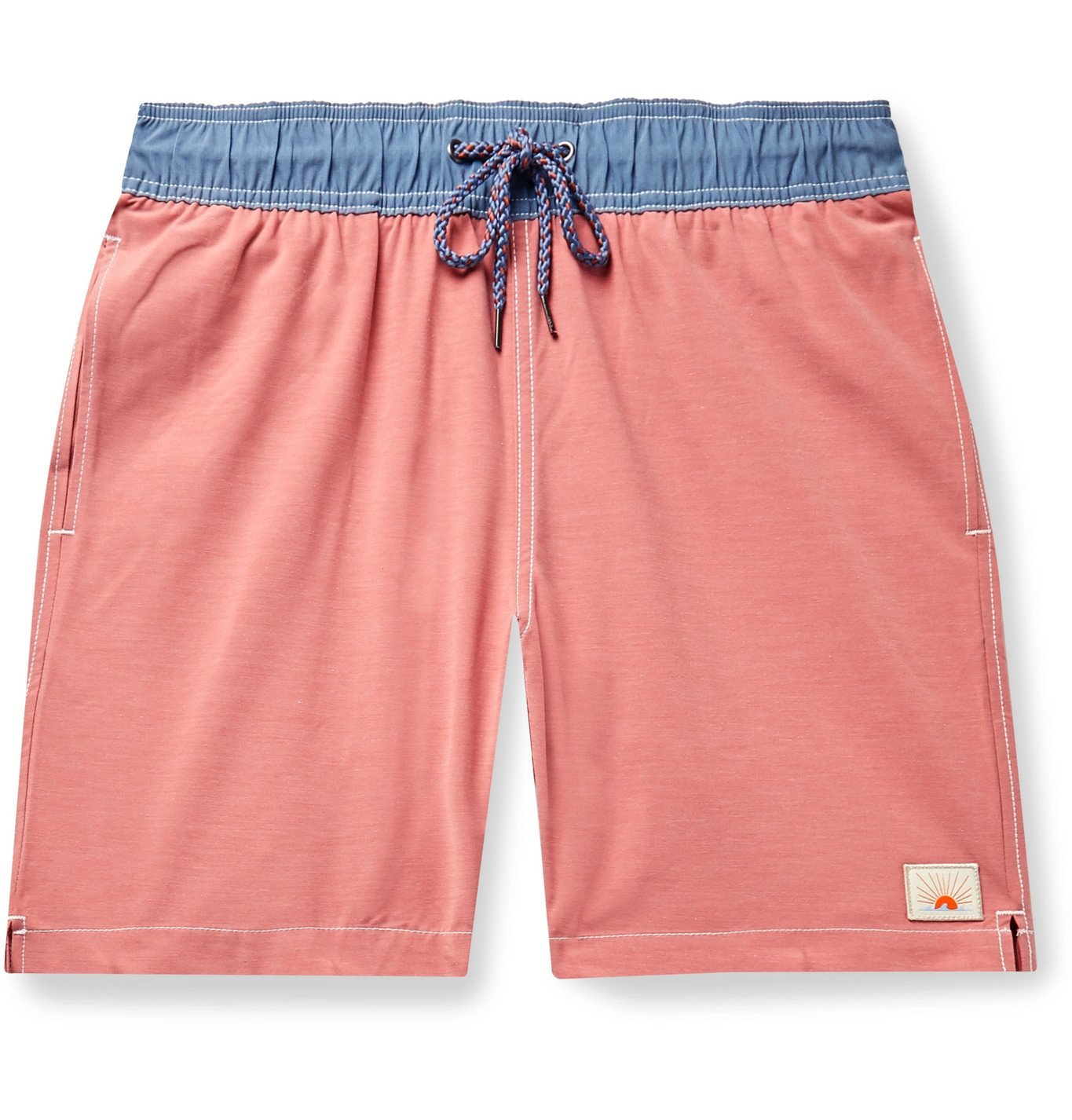 Photo: Faherty - Beacon Mid-Length Swim Shorts - Orange