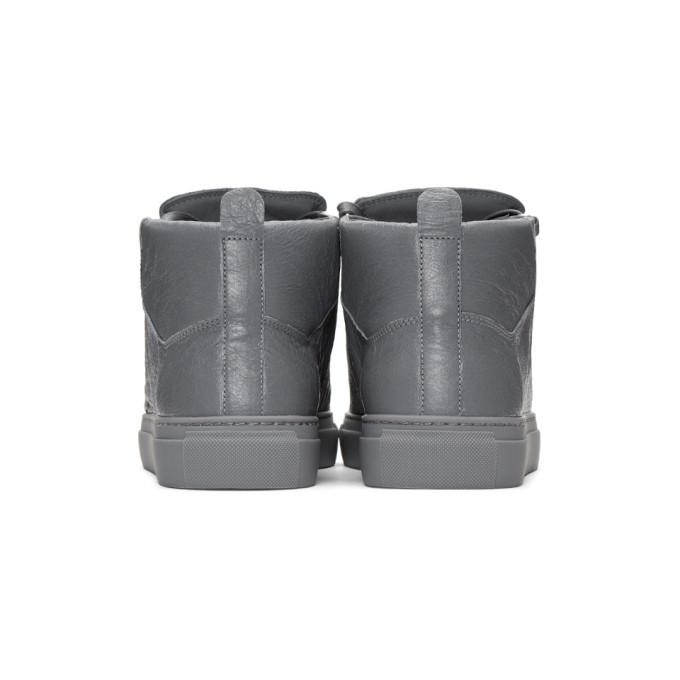 Balenciaga Grey Arena High-Top Sneakers