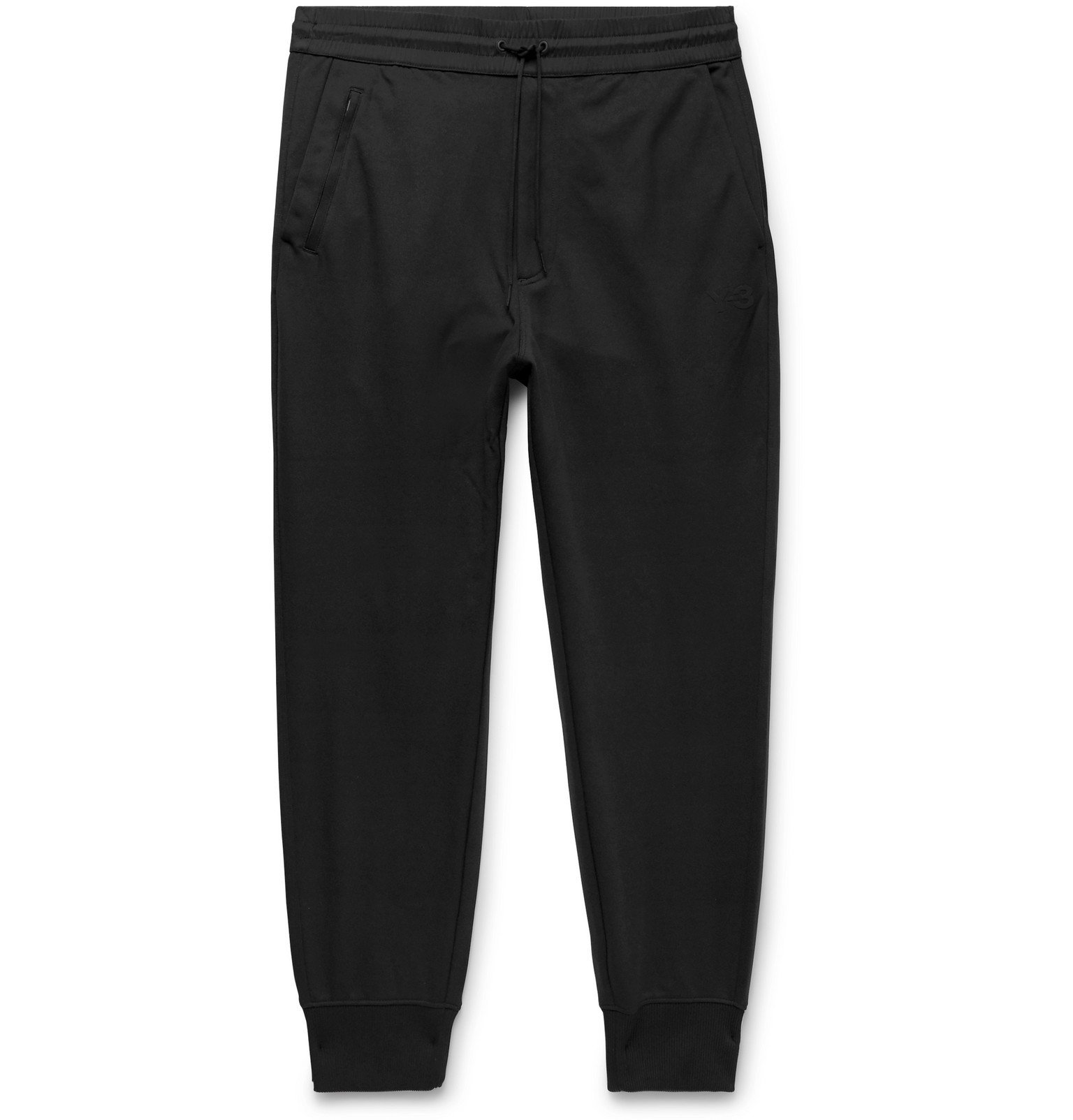 Photo: Y-3 - Tapered Cotton-Jersey Sweatpants - Black
