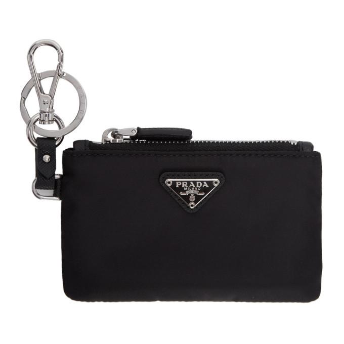 Photo: Prada Black Nylon Travel Pouch Keychain
