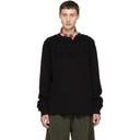 Sacai Black Embroidered Long Sleeve T-Shirt