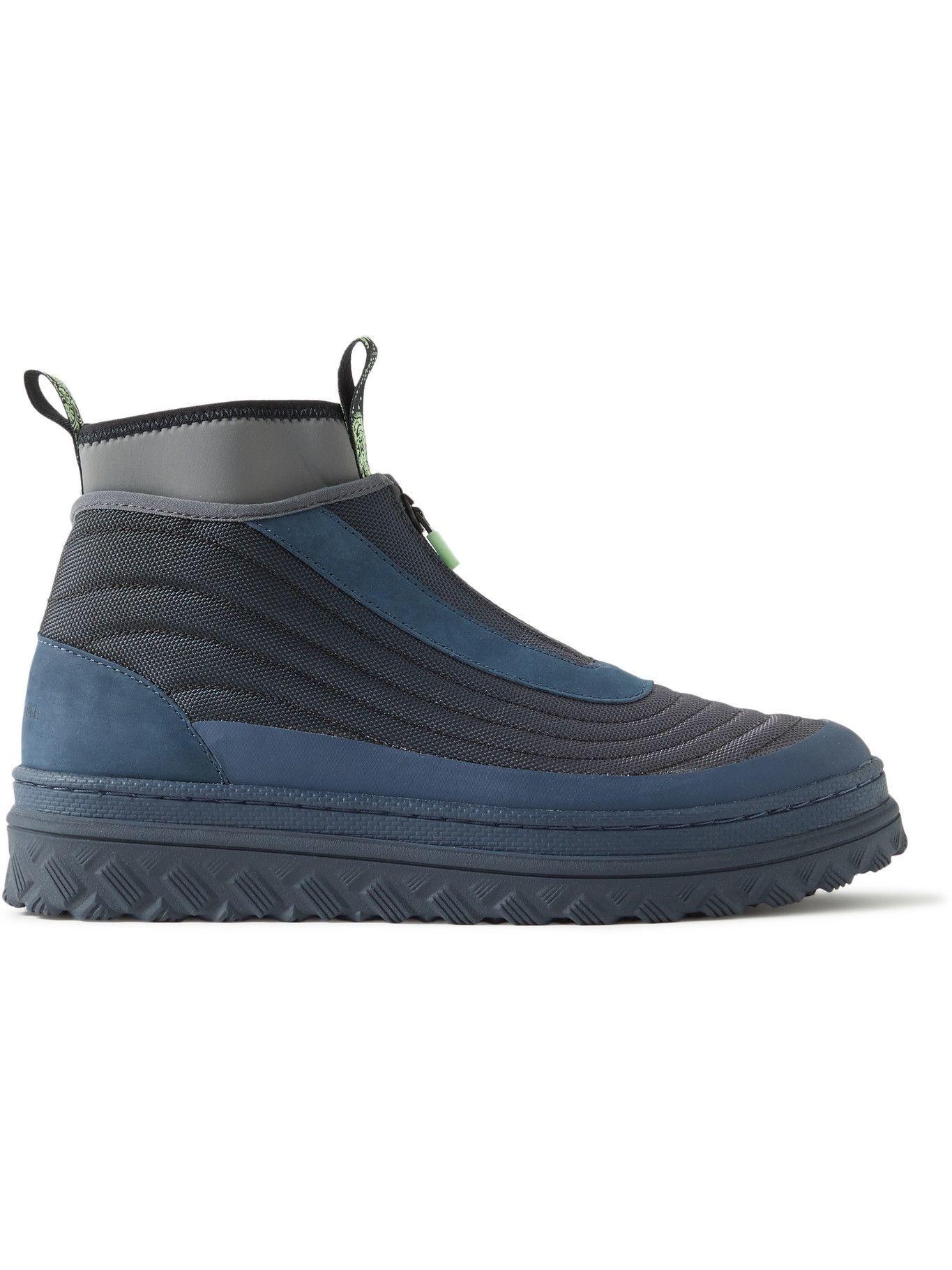 Photo: Converse - paria /FARZANEH Pro Leather X2 Trek Hi Nubuck and Neoprene-Trimmed Mesh Sneakers - Black