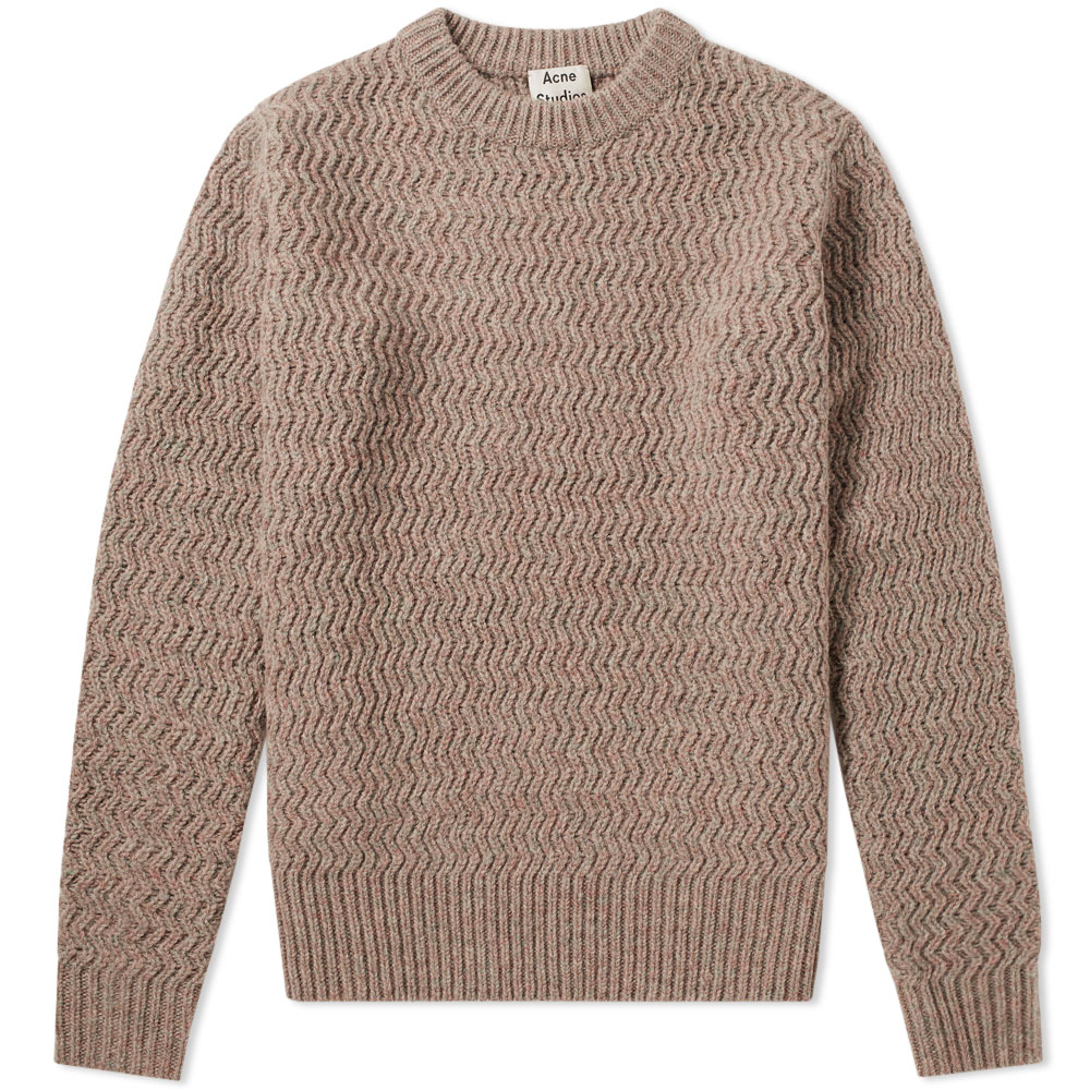 Photo: Acne Studios Nyle Herringbone Crew Knit