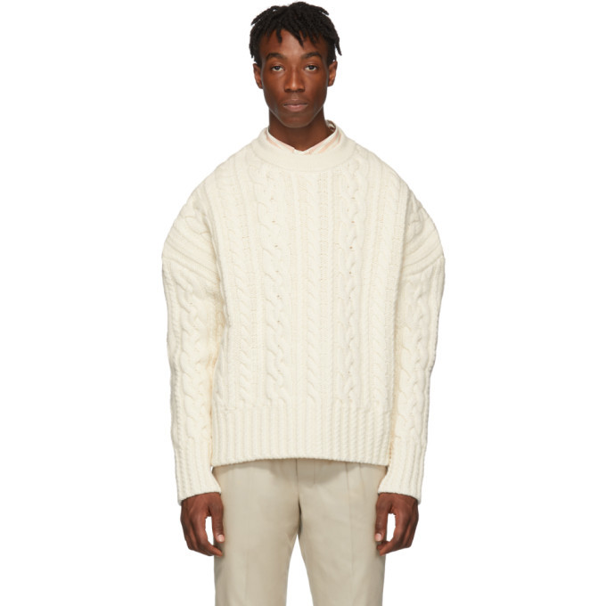 Photo: AMI Alexandre Mattiussi Off-White Oversized Torsades Crewneck Sweater