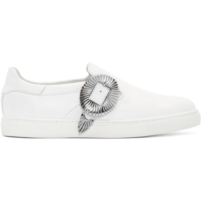 Photo: Toga Virilis White Western Slip-On Sneakers