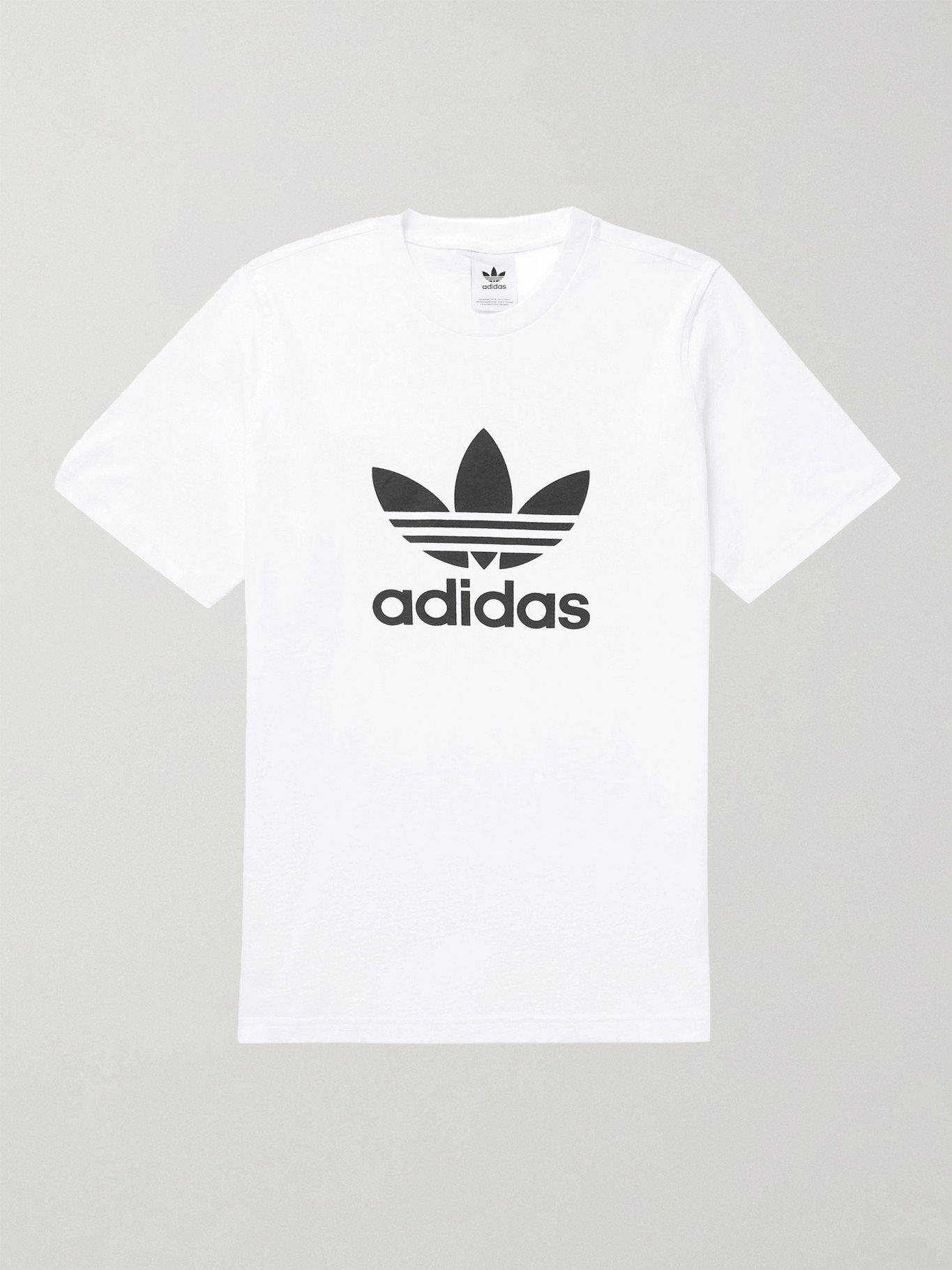 Photo: ADIDAS ORIGINALS - Logo-Print Cotton-Jersey T-Shirt - White