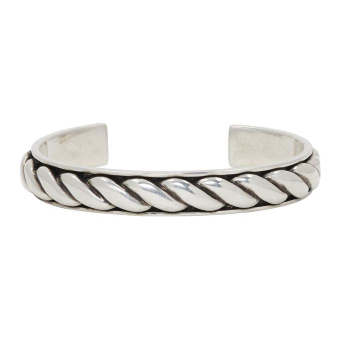 Photo: Saint Laurent Silver Rope Bracelet