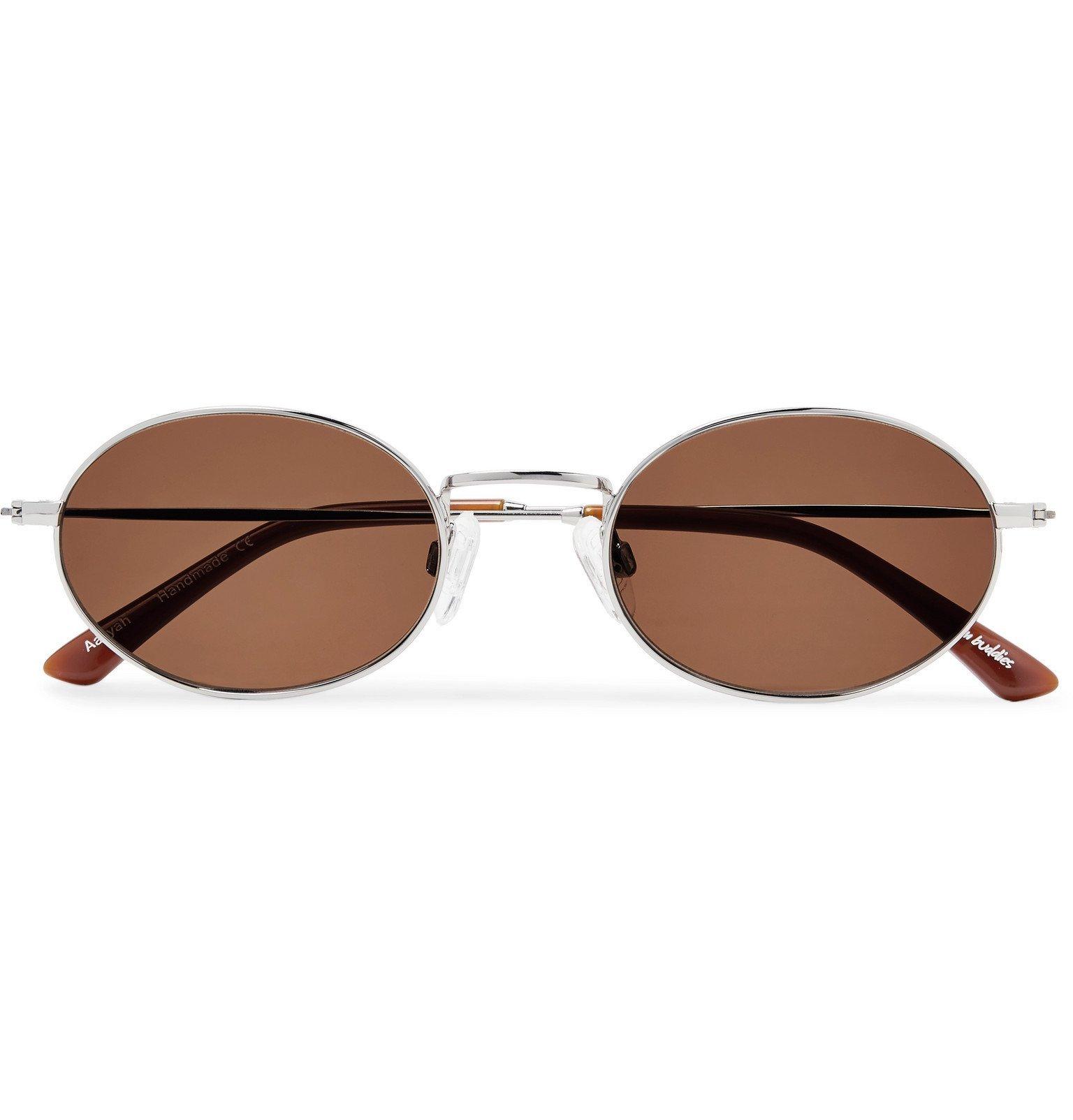 Photo: Sun Buddies - Oval-Frame Silver-Tone Sunglasses - Silver
