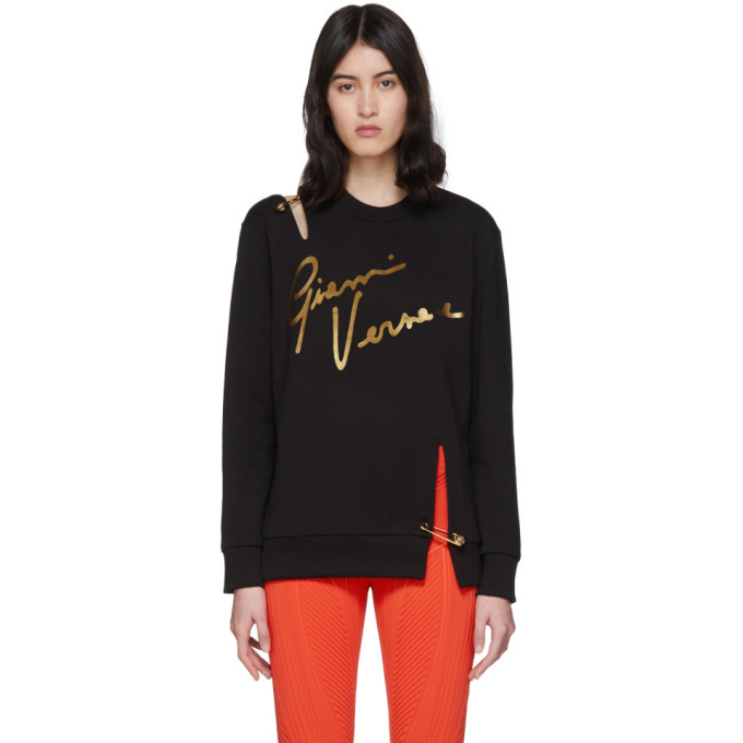 Photo: Versace Black Pin Signature Sweatshirt