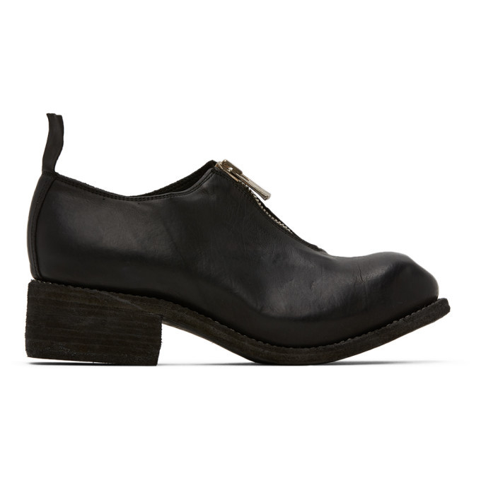 Photo: Guidi Black Front Zip Loafers