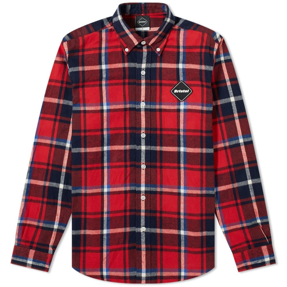 Photo: F.C. Real Bristol Big Logo Flannel Button Down Shirt
