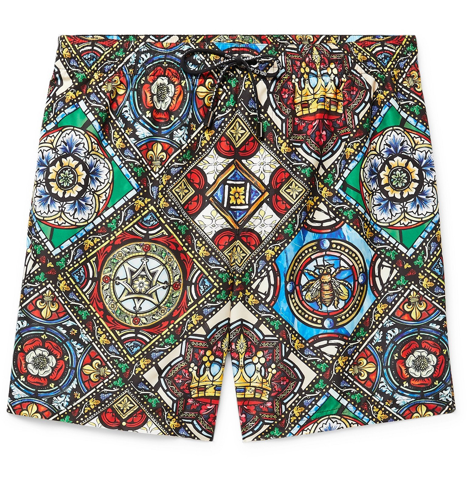 Photo: Dolce & Gabbana - Long-Length Printed Swim Shorts - Multi