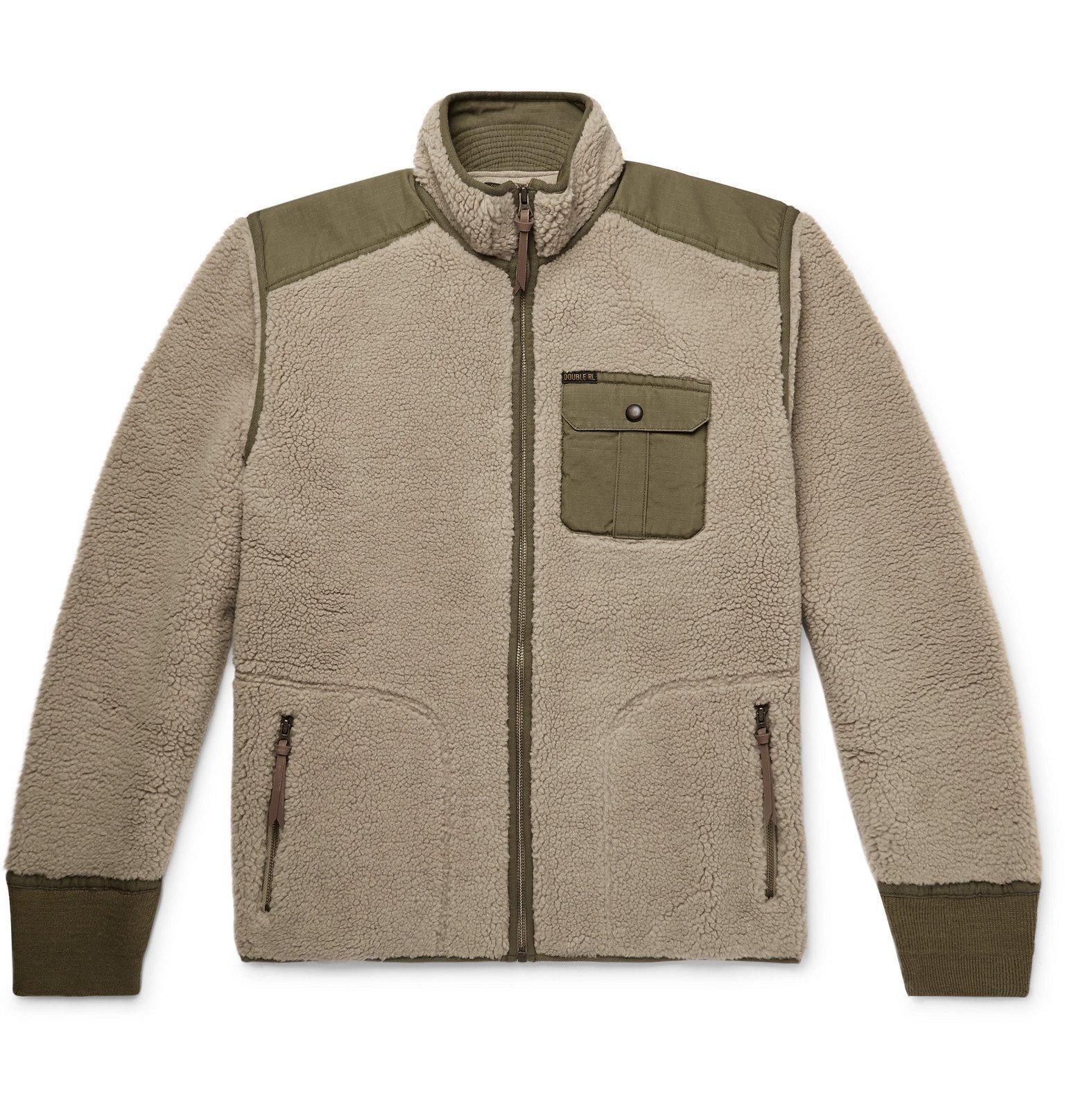 RRL - Ripstop-Panelled Fleece Jacket - Neutrals