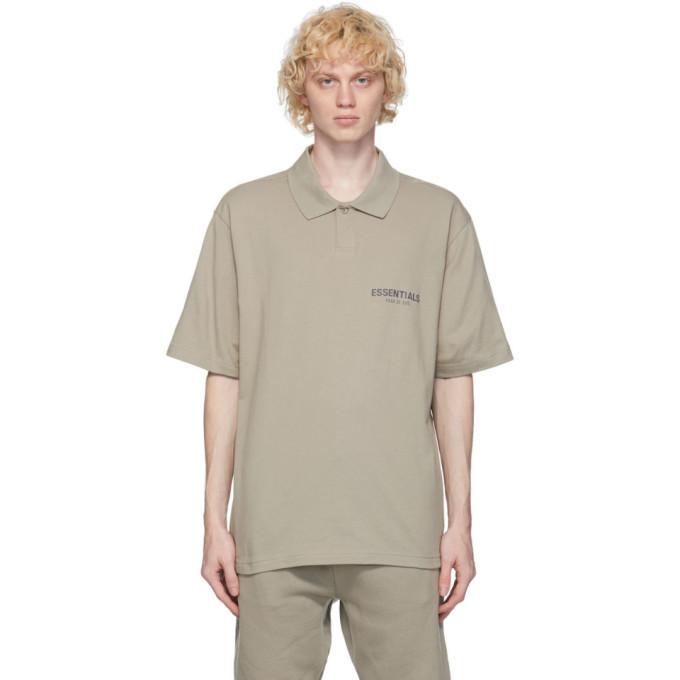 Photo: Essentials Khaki Jersey Polo