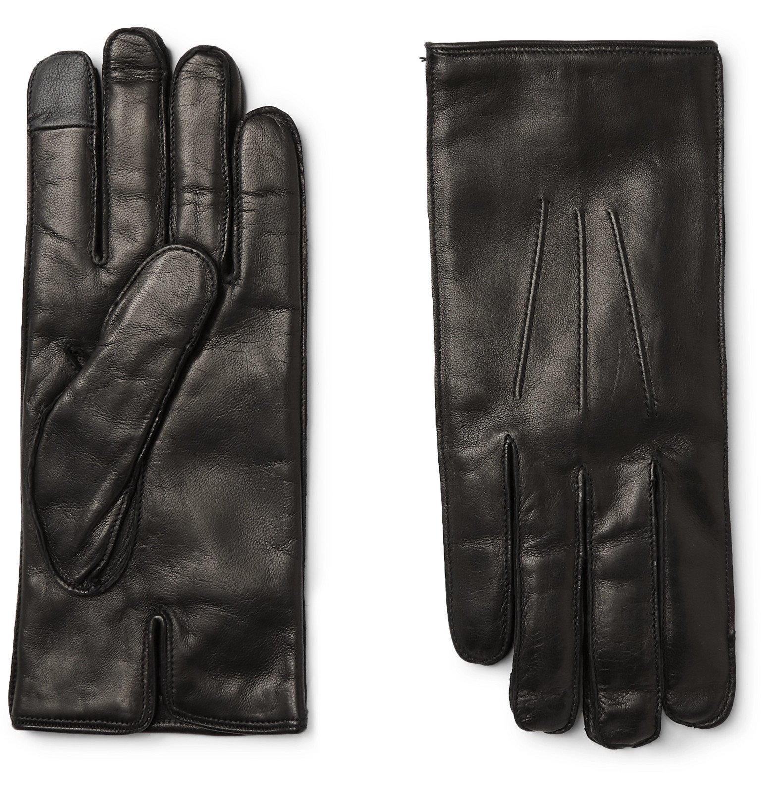 Photo: Dunhill - Cashmere-Lined Leather Gloves - Black