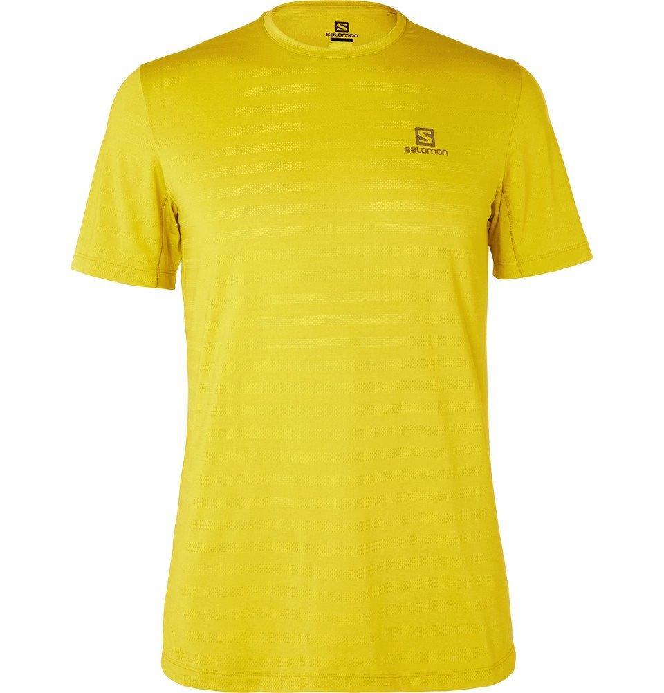Photo: Salomon - XA Perforated Stretch-Jersey T-Shirt - Yellow