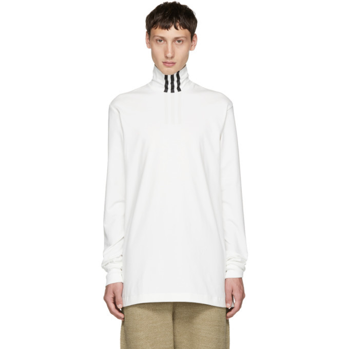 Photo: Y-3 White 3-Stripe Turtleneck